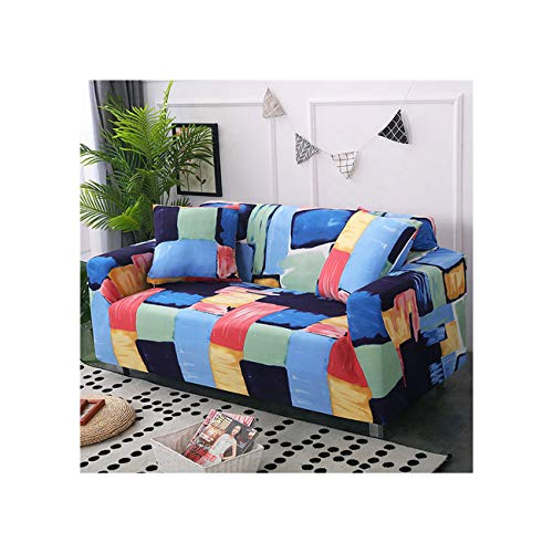 Lionel Philip 1Pc Elastic Printed Sofa Covers Stretch Universal Sectional Throw Couch Corner Cover Cases for Furniture Armchairs Home Decor,Color 15,2-Seater 145-185Cm