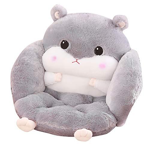 Be&xn Cartoon-Dicke Kissen rückenlehne, Einteilige Tatami Ei hängesessel pad Kinder Sofa Kissen Winter sitzkissen für Dining Stuhl-Grau H45xW40xL40cm(18x16x16)