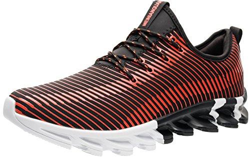 Athletische Laufhose (JOOMRA Herren ein Hingucker Perfekte Laufschuhe Freizeit Mode Sneaker Athletische Runners Auslauf Laufen Schuhe für Laufhose Zum Joggen Kombiniert Casual zur Jeans Männer Rot,Schwarz,Weiß 42 EU)