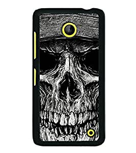 PrintVisa Designer Back Case Cover for Microsoft Lumia 630 (Skull Cases Head of Bones Graphical Skull)