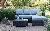 Consul Garden Loungeset Ohio Aluminium Polyrattan Gartenmöbel Set Garnitur