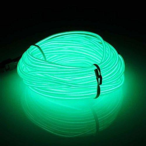 Neon-LED-Licht-EL-Draht, 10 m, flexibles EL-Seil, Neonschild, wasserdicht, LED-Streifen, Stroboskop, Party-Dekoration, für Party-Dekoration, Gelb (1 x Grün)