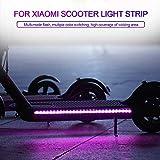 jinclonder Led Strip Lights für Xiaomi M365 Elektroroller Zubehör, Durable Strip Light Scooter Faltbare LED Light-Up Bunte Festzelte