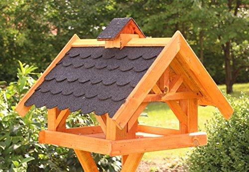 Rechteckiges Vogelhaus, Vogelhäuser behandelt Typ 33 (Maxi, Schwarz)