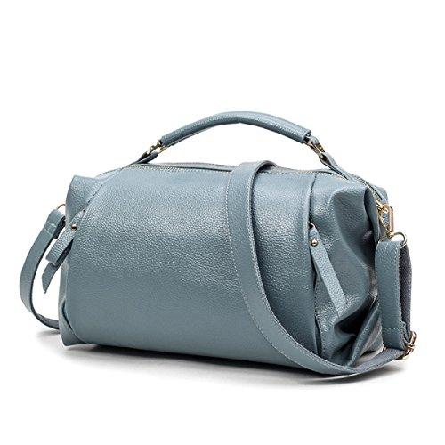 Dame Lychee Muster Art Und Weise Tendenz Schulterbeutel Diagonales Paket Handtasche Beiläufig Blue
