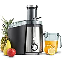 VonShef Premium Juicer - High Power Centrifugal Juice Maker / Extractor - 800W, Large 75mm Feeding Chute, 1.1L Juice Jug & 2L Pulp Container