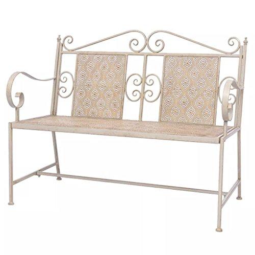 Furnituredeals Gartenbank aus Stahl 115x 58,5x 93cm weiß.Die Bank sind bequem und elegant und Sara Wunderschöne im Garten