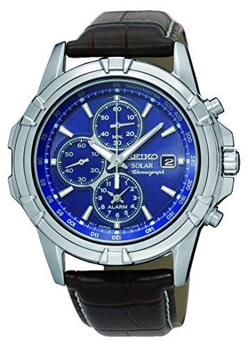 pour-homme-pour-homme-seiko-alarme-solaire-chronographe-en-acier-inoxydable-sur-bracelet-en-cuir-rem