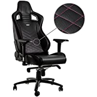 Noblechairs EPIC Gaming Chair - Black/Pink with Vegan Friendly PU Leather, 2 Year Warranty, Up to 180KG Users, Perfect for an Executive Office Chair, Racing Seat Design