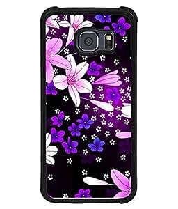 PrintVisa Designer Back Case Cover for Samsung Galaxy S6 Edge :: Samsung Galaxy S6 Edge G925 :: Samsung Galaxy S6 Edge G925I G9250 G925A G925F G925Fq G925K G925L G925S G925T (Decoration Botanical Abstract Botanic Colorful Ornament Beautiful Romantic)