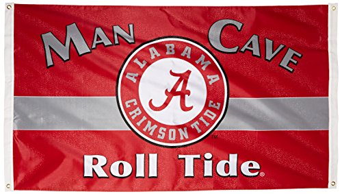 BSI NCAA Alabama Crimson Tide Man Cave Flagge mit 4Tüllen (3x Geschenkpapierrolle 150cm) Alabama Crimson Tide Camo