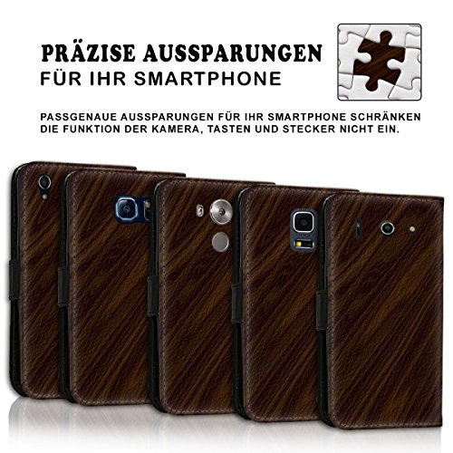 Wallet Book Style Flip Handy Tasche Case Schutz Hülle Schale Motiv Etui für Apple iPhone 6 / 6S - Variante UMV16 Design12 Design 11