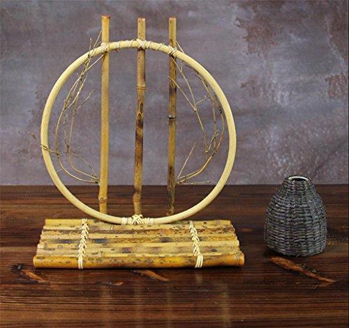 Retro decorazione di bambù Fiore Artigianato di bambù Flower Vase Fiore Rhyme Ristorante piccola decorazione Vaso di fiore , c - 4 C Gemme Gioielli