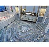 Syssyj Marmor3DTapeten-Badezimmer-Pvc-Vinylboden-Selbstklebende Tapete-450X300CM