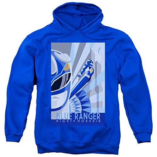 Power Rangers Erwachsene Kapuzenpullover Blue Ranger Deco, SM/Blau - Blau - Klein (Power Rangers Yellow Ranger Shirt)