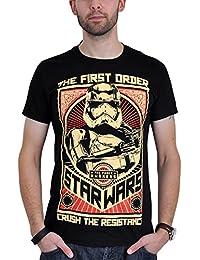 Star Wars - T-shirt La Guerre des Etoiles 7 Crush the Resistance noir
