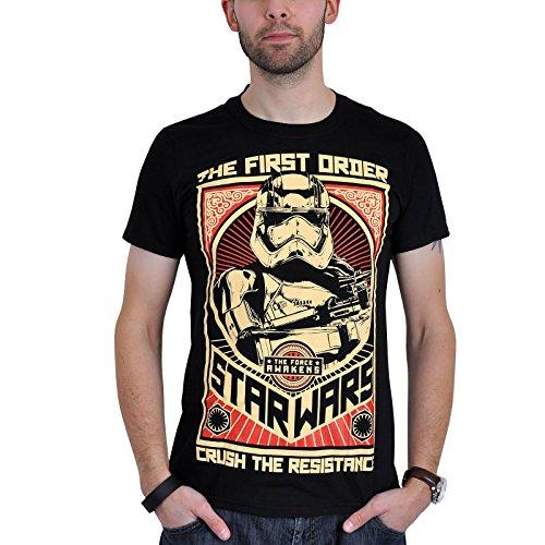 Star Wars - T-shirt La Guerre des Etoiles 7 Crush the Resistance noir - XXL