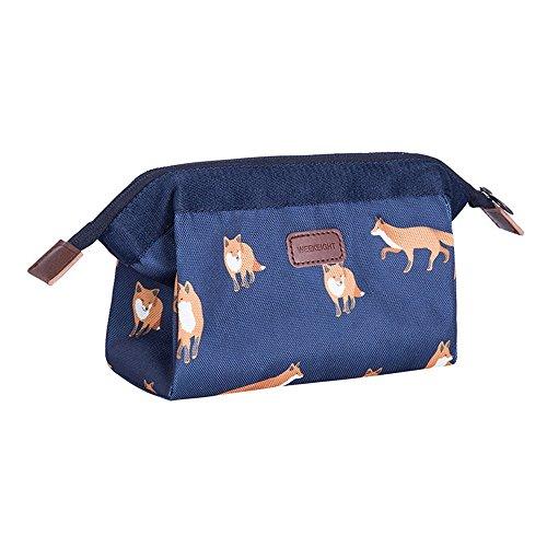 Multi-fonctionnelle de grande capacité en trois dimensions des articles divers voyage sac sac imperméable collection maquillage,Deep blue