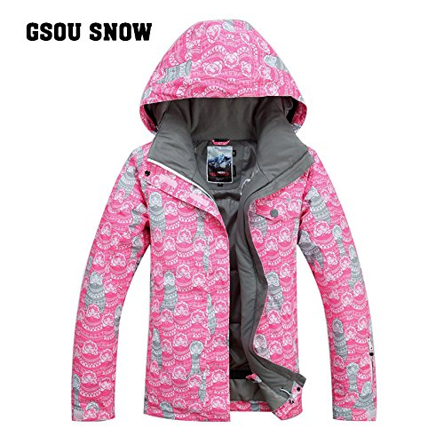 gsou schnee snowboard - frauen im koreanischen stil winddicht, atmungsaktiv und schnee beweis jacke wasserdicht.,l,zum beispiel,farbe