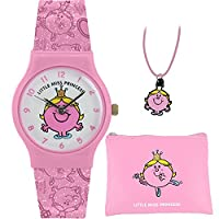 Mr Men and Little Miss Girl's Little Miss Princess Watch Purse and Necklace Set