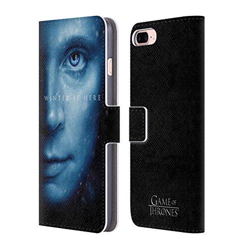 Offizielle HBO Game Of Thrones Daenerys Targaryen Winter Is Here Brieftasche Handyhülle aus Leder für Apple iPhone 7 Plus Brienne