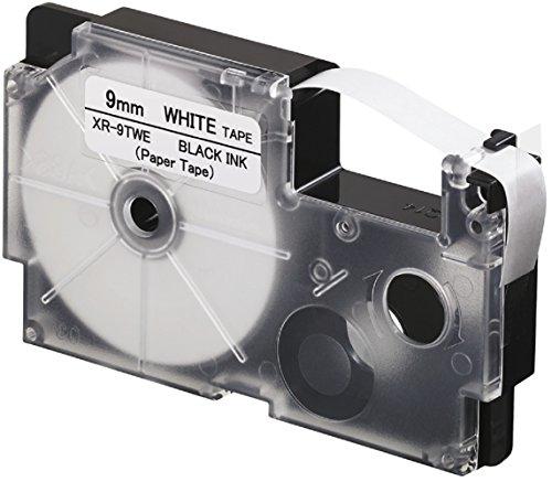 CASIO EZ-Label Printer XR-9TWE Schriftband aus Papier selbsthaftend für den Indoor-Einsatz 9 mm x 8,0 m schwarz auf weiß