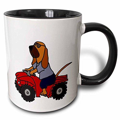 und Redneck Hund mit rot ATV zweifarbig schwarz Tasse, 11Oz, schwarz/weiß ()