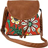 Snoogg Colorful Floral Seamless Pattern In Cartoon Style Seamless Pattern Casual Spacious MultiPurpose Women Sling Bag Carry Around