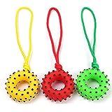 Mein Ji Spielzeug Beißring mit Geräuschen für Hunde, Spielzeug für Haustiere, aus Gummi, robust, Kratzfest mit Baumwollschnur des Hundes (Schwein/Zufall)