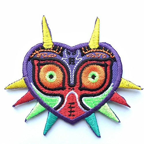 Majora's Mask Legend of Zelda Embroidered Iron on Patch Appliqué by Hyrule (Ds Majora)