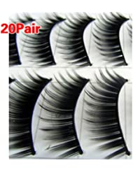 20 Pairs Black Thick Natural Long Makeup False Fake Eyelash Eye Lashes #149