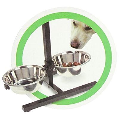 COM-FOUR® dog bowl set, with growing dog bowl stand from COM-FOUR
