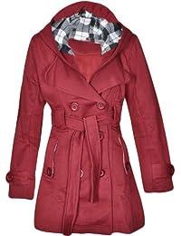 Flirty Wardrobe Veste à capuche avec boutons et ceinture Femme