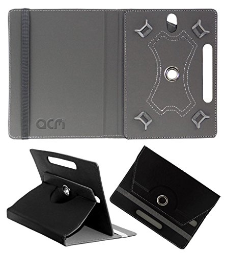 Acm Rotating 360° Leather Flip Case For Lenovo Phab Plus Cover Stand Black