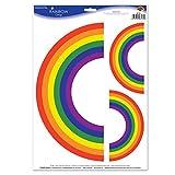 Beistle Rainbow klammert sich an, 30,5x 43,2cm Multicolor