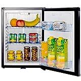 Smad Réfrigérateur Compact 12V 220V Mini Frigo à Absorption avec Serrure à Verrou 0dB sans Bruit Petit Frigo pour Voiture RV Camping 40L Noir