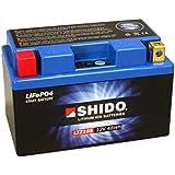 Batterie Shido Lithium LTZ10S / YTZ10S, 12V/9,1AH (Maße: 150x87x93) für Yamaha MT-09 ABS Baujahr 2014