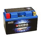 Batterie Shido Lithium LTZ10S / YTZ10S, 12V/9,1AH (Maße: 150x87x93) für KTM Supermoto Competition 690 SMC Baujahr 2012