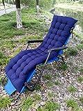 AINIYUE Sonnenliege Kissenbezug, passend für die meisten Liegen, Liegepolster, Schaukelstuhlpolster, Gartenstuhlpolster, 48X125cm Blau