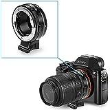 Neewer® enfoque Manual adaptador de montura de lente con Dial de apertura para Nikon G, F, Ai, S, D lentes a Sony E-Mount NEX cámaras Sony A7A7S/A7SII A7R/A7RII a7ii, A6000, A6300, NEX-3, NEX-5, NEX-5N, NEX-7, NEX-7N, NEX-C3