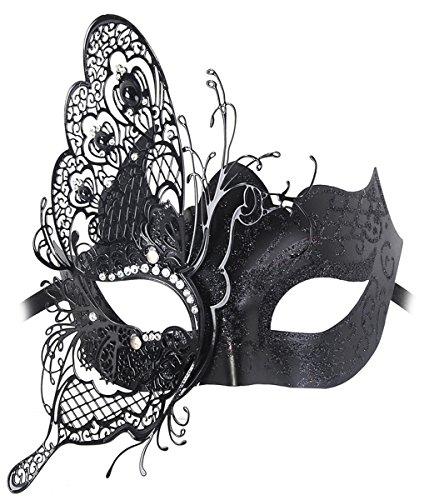 Venezianische Maske, Coofit Masquerade Maske Schmetterling Metall Maskenball Masken Venedig Maske Maskerade Maske Damen (Venezianische Maske Schmetterling)