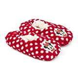 DISNEY MINNIE MOUSE Pantoffeln Hausschuhe pink rot Sohle rutschhemmend 25-32 (29/30, rot)
