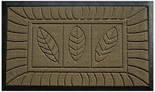 Tapis Déco Tapis d'Entrée Feuilles Polypropylène/Cao Naturel 75 x 45 cm