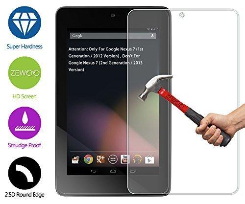 pellicola tablet 7 pollici universale ZeWoo Pellicola Protettiva in Vetro Temperato per Asus Google Nexus 7 (7 pollici) 9H *2.5D con spessore di 0