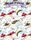 Cahier de Musique - A4 -108 pages - 12 portées par pages - Licorne - Unicorns Musicbook - couverture souple glossy - musique - chant - musicien - compostion