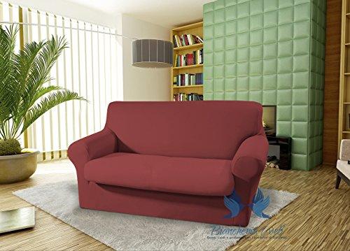 BIANCHERIAWEB canapé élastique modèle Parfait Seduta Bordeaux