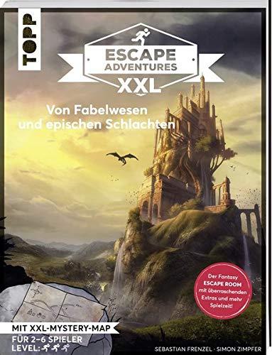 Escape Adventures XXL - Von Fabelwesen und epischen Schlachten: Das ultimative Escape-Room-Erlebnis jetzt in XXL! Mit Mystery-Map, Charakterkarten und Decoder für 1-6 Spieler. 120 Minuten Spielzeit (Rätsel Map)