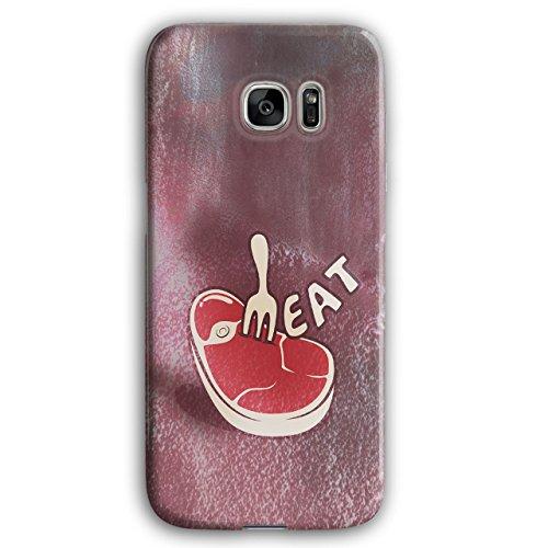 Wellcoda Fleisch Steak 3D Samsung Galaxy S7 Edge Hülle