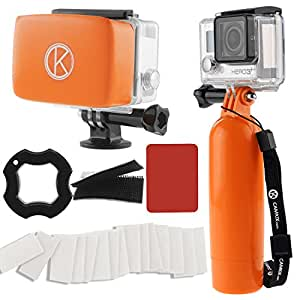 CamKix Accessory Bundle for Gopro Hero 4, Black, Silver, Hero+ LCD, 3+, 3, 2, 1 including Floating Hand Grip / Removable Floater / Anti-Fog Inserts / Thumbscrew / Wrist Strap