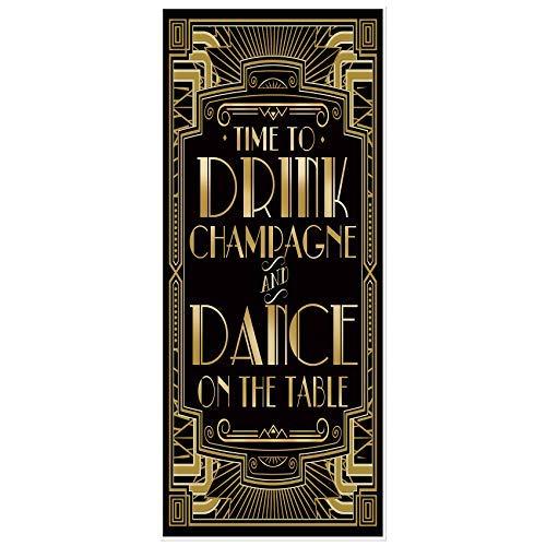 musykrafties Goldenen 1920s Gatsby Themenparty Türabdeckung 72x30 - Tanz auf die Tisch